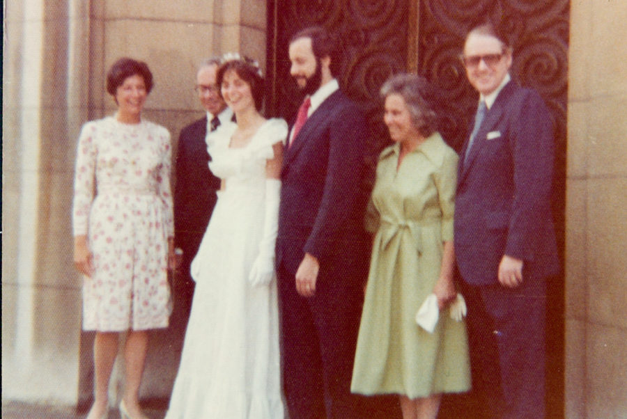 A photo of Tom and Frances's wedding