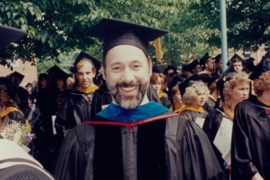 A photo of Tom Wolf at a graduation ceremony